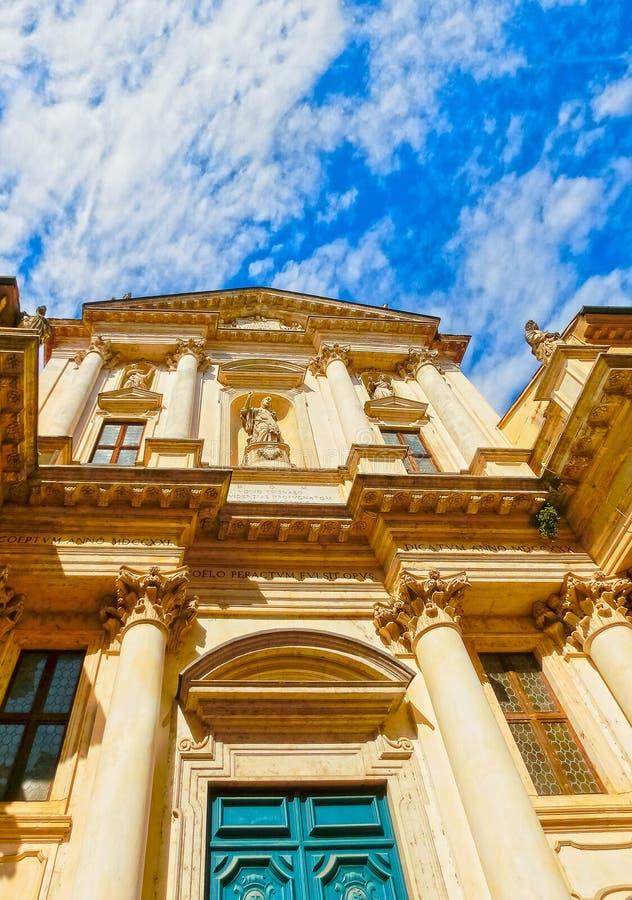 Widok sławna bazylika przy piazza Dei Signori w Vicenza, Veneto, Włochy fotografia royalty free