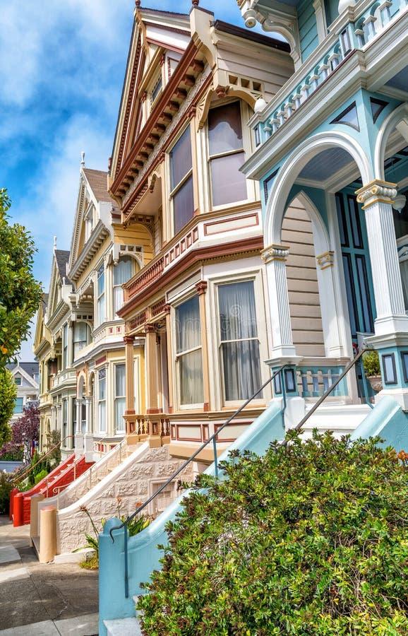 Widok sławny San Fransisco Malował damy, rząd kolorowy V obraz stock