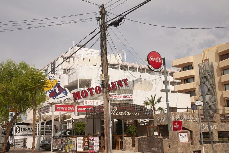 Widok Sant Antony De Portmany ulicy obraz stock