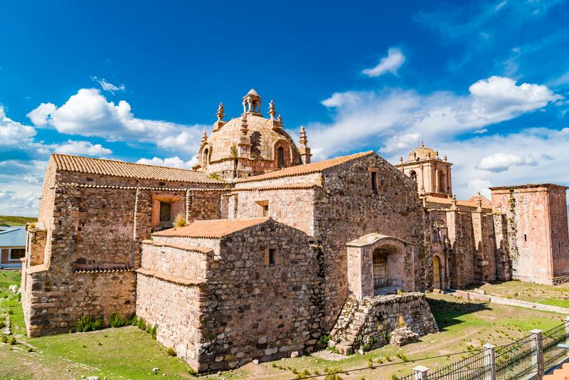 Widok Santa Isabella kościół w Pucara Puno obrazy royalty free