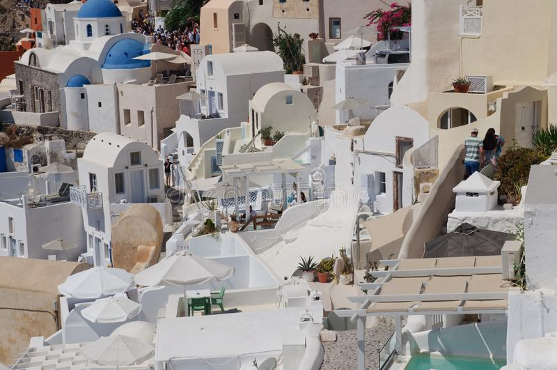 Widok Santorini obrazy royalty free