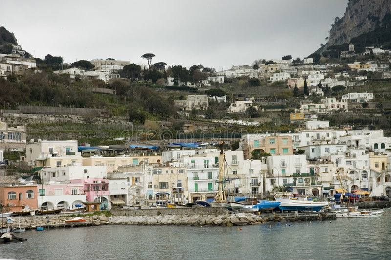 widok sceniczny capri schronienia zdjęcia royalty free