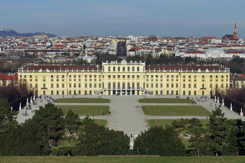 Widok Schonbrunn pałac obrazy royalty free