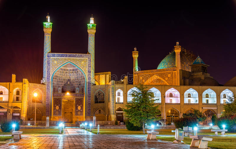 Widok Shah meczet w Isfahan (imam) obraz stock