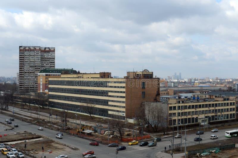 Widok Shchelkovo autostrada w terenie zgromadzenie ulica w Moskwa zdjęcia stock