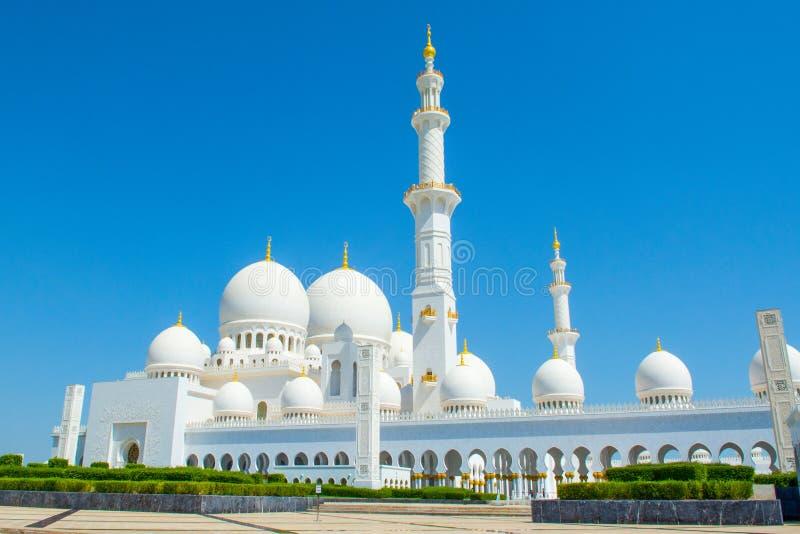 Widok Sheikh Zayed Uroczysty meczet obrazy royalty free
