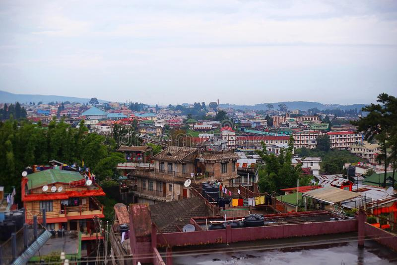 Widok Shillong wzgórza stacja Meghalaya zdjęcie royalty free