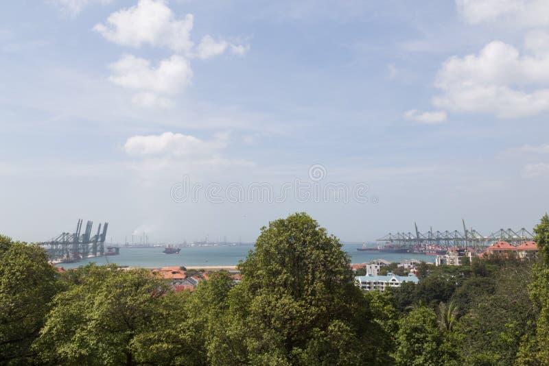 Widok Singapur zbiornika terminal zdjęcie stock
