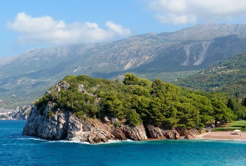 Widok skalisty wybrzeże zdjęcia royalty free
