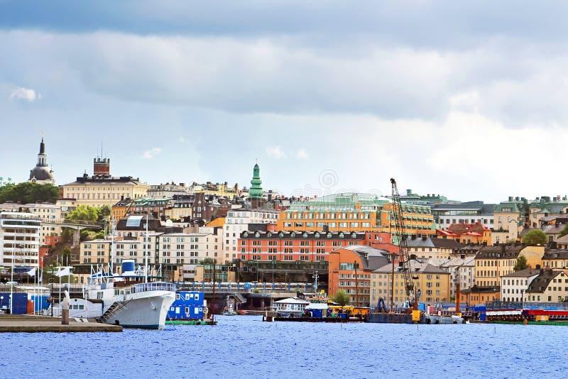 Widok Slussen region w Sztokholm zdjęcie royalty free