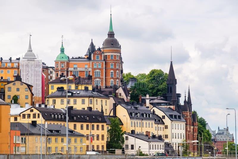 Widok Sodermalm w Sztokholm, Szwecja zdjęcia stock