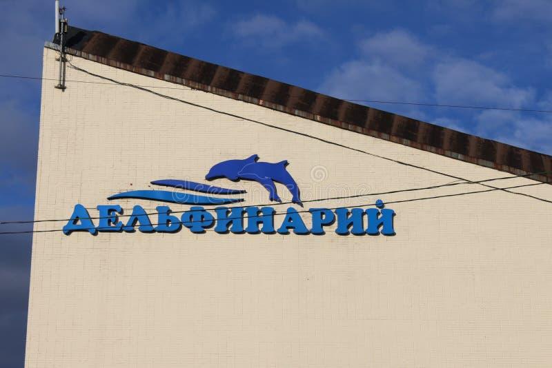 Widok St Petersburg Dolphinarium na Krestovsky wyspie obraz royalty free