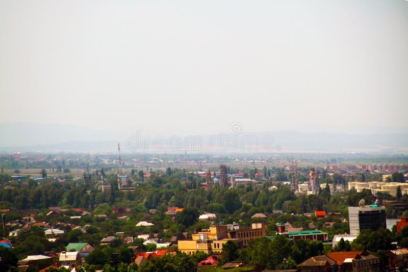 Widok stacja kolejowa miasto Krasnodar puszek zdjęcie stock