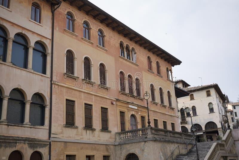 Widok stare ulicy Asolo obrazy royalty free