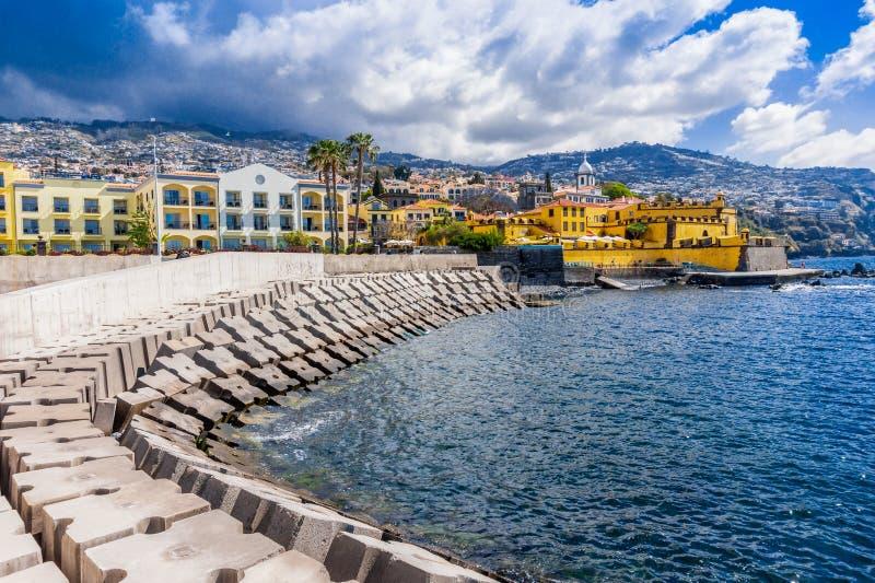 Widok stary grodowy Fortaleza De Sao Tiago funchal Madeira obraz stock