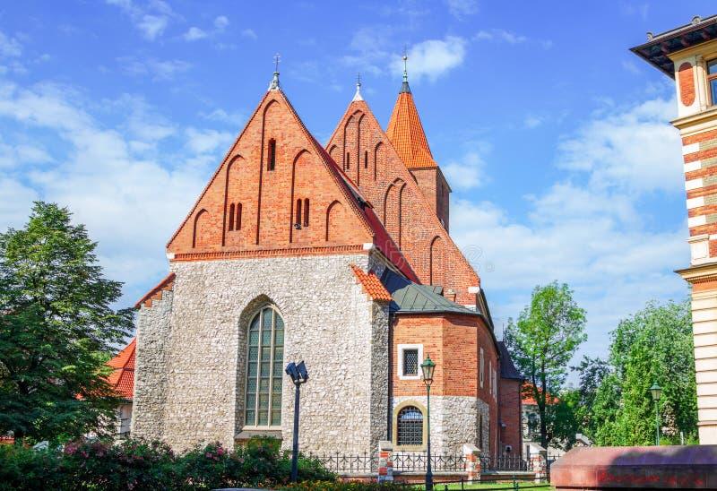 Widok stary kamienny Katolicki farny budynek zdjęcie royalty free