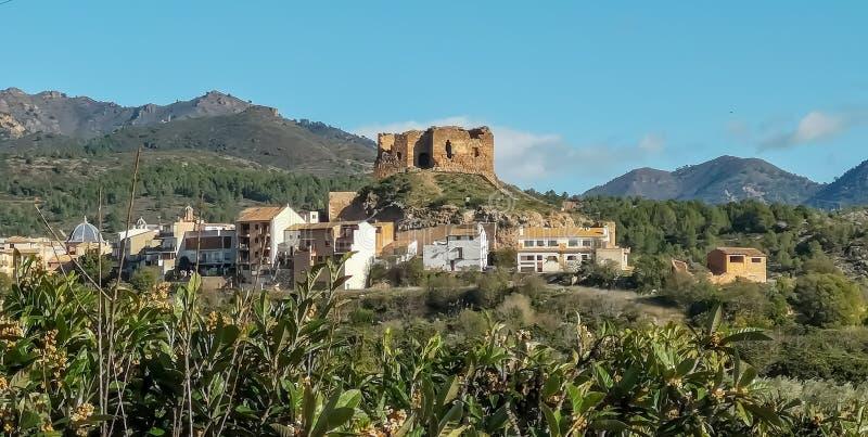Widok stary kasztel Castellnovo zdjęcia royalty free