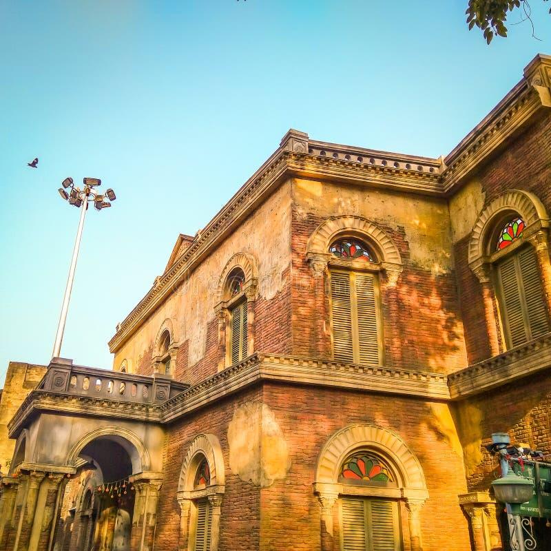 Widok stary kolonisty dom w Calcutta, Kolkata, India obrazy royalty free