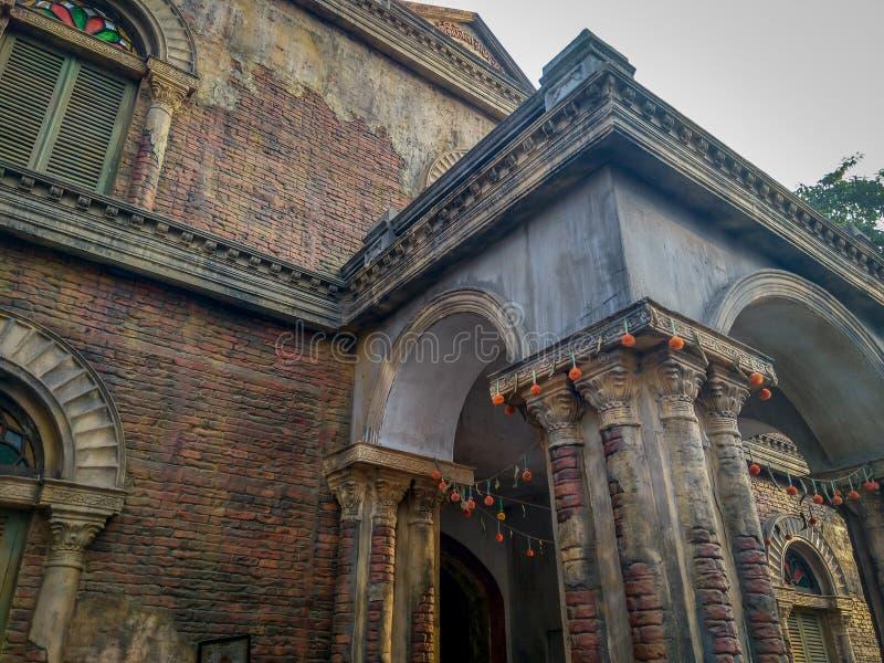 Widok stary kolonisty dom w Calcutta, Kolkata, India fotografia stock
