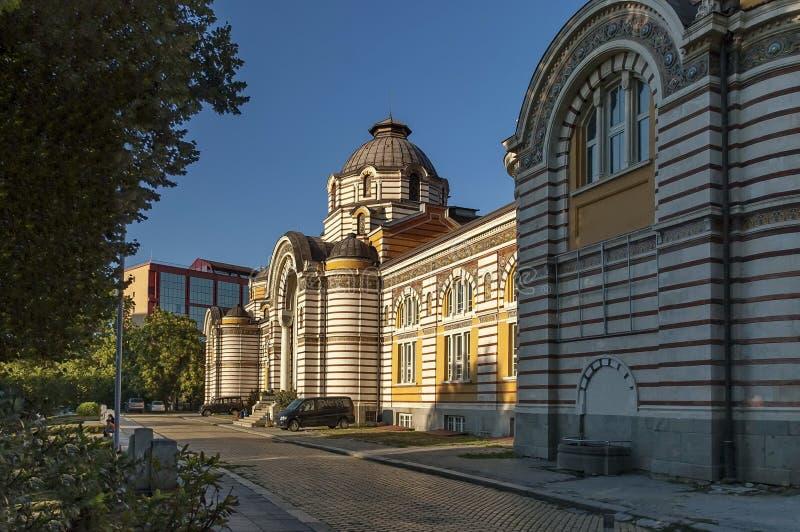Widok stary kopalny społeczeństwa skąpanie w Sofia zdjęcie stock