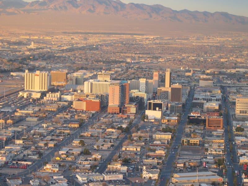 Widok stary Las Vegas pasek Vegas Nevada lasów w usa obraz stock