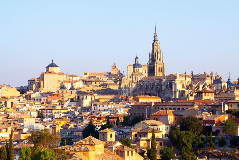 Widok stary miasteczko i katedra. Toledo zdjęcia royalty free