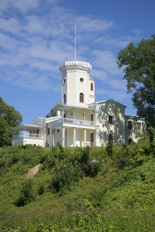 Widok stary rezydencja ziemska dom hrabiowski Benkendorf Estonia fotografia royalty free