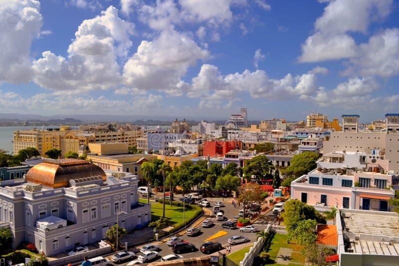 Widok Stary San Juan, Puerto Rico od El Morro fortu zdjęcie stock