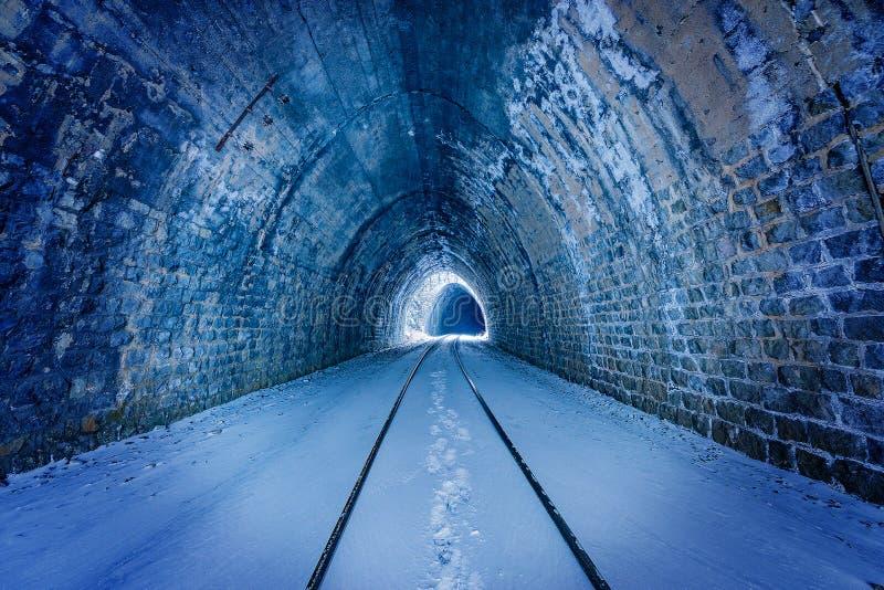 Widok stary tunel Baikal kolej zdjęcie stock
