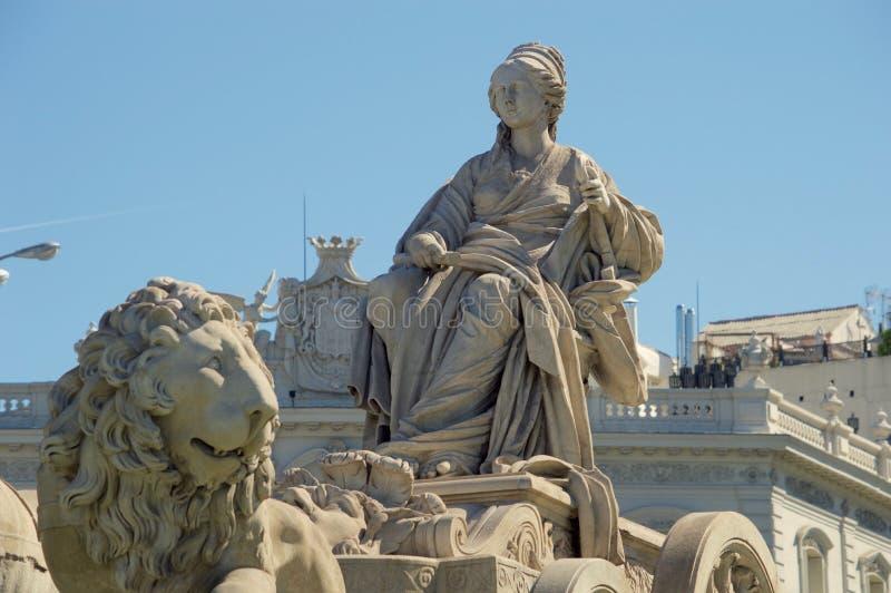 Widok statua Cibeles obrazy royalty free