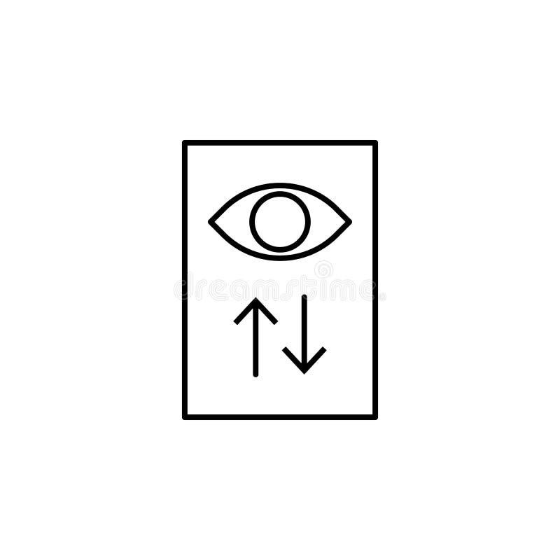 widok statystyk ikona Element online i sieć dla mobilnego pojęcia i sieci apps ikony Cienka kreskowa ikona dla strony internetowe royalty ilustracja