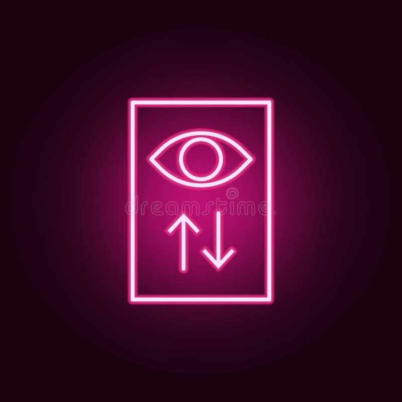 widok statystyk neonowa ikona Elementy online i sie? set Prosta ikona dla stron internetowych, sie? projekt, mobilny app, ewidenc ilustracji