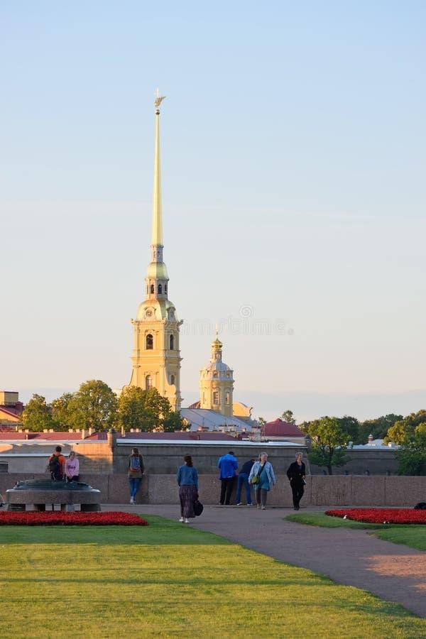 Widok strzała W fortecy na Vasi i Peter i Paul obrazy royalty free