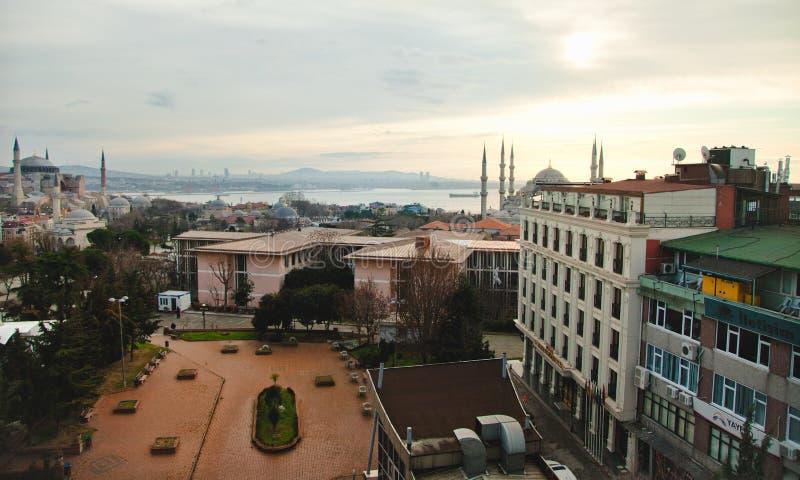 Widok sułtanu Ahmed meczet Sophia i Hagia obraz stock