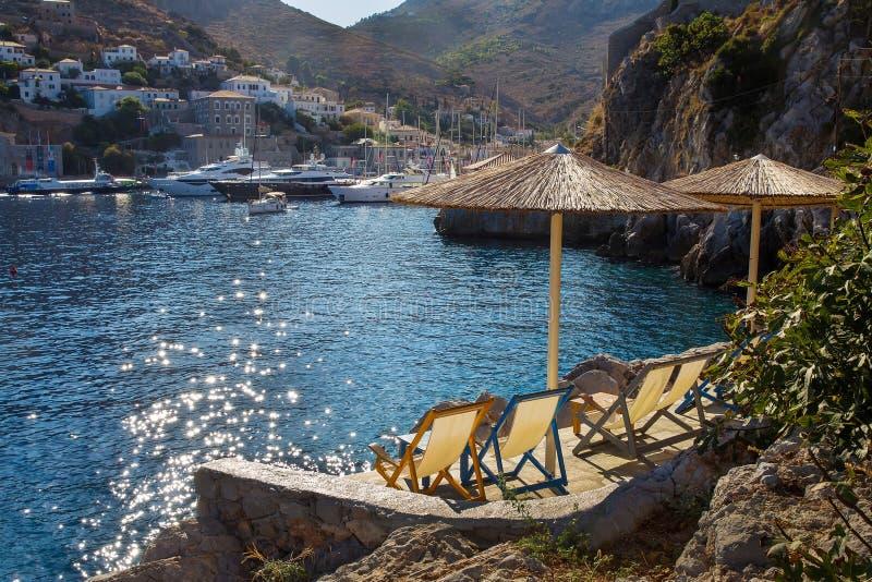 Widok sunbathing teren zdjęcia royalty free