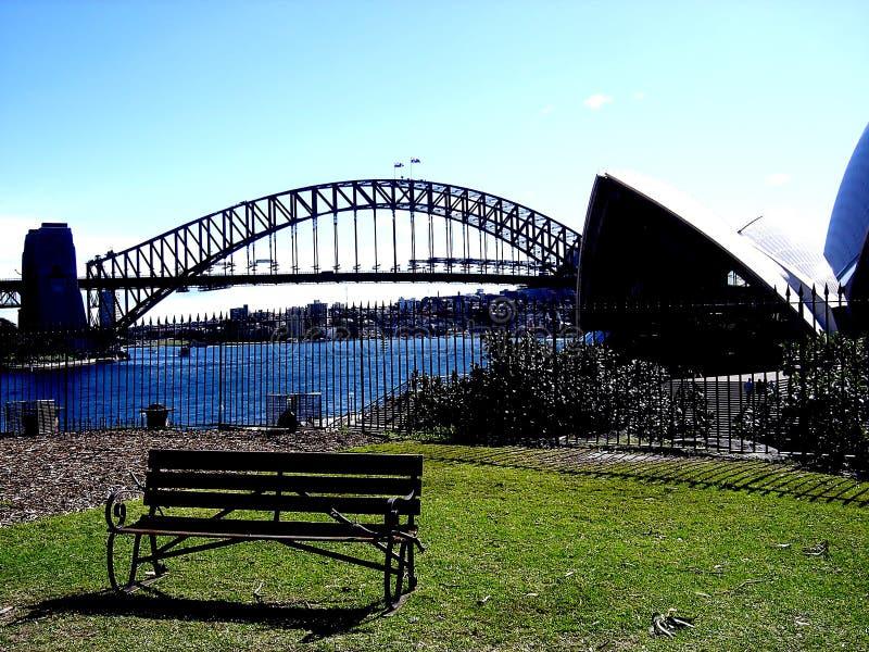 Widok Sydney opera i most zdjęcie royalty free