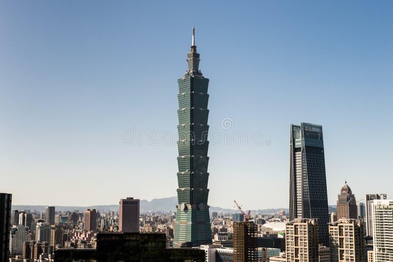 Widok Taipei 101 handlu światowego centrum budynek zdjęcia royalty free