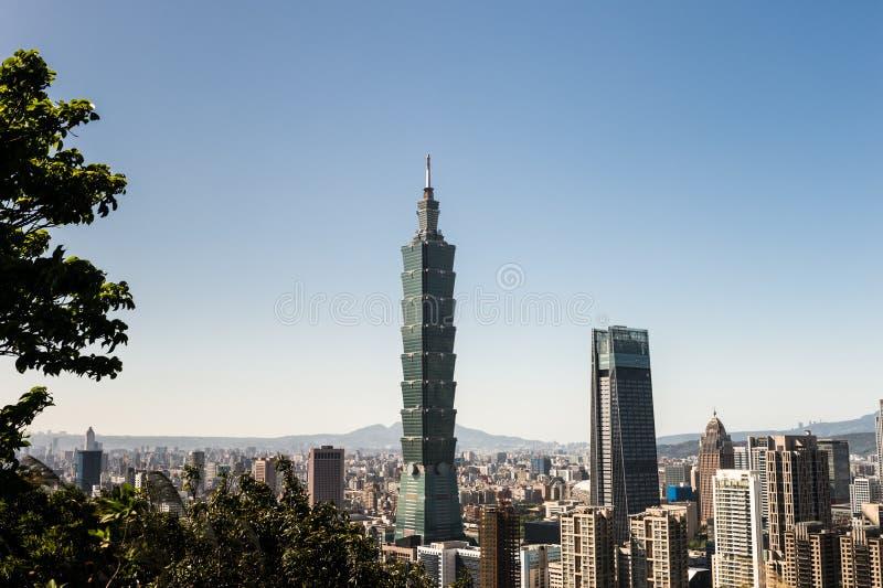 Widok Taipei 101 handlu światowego centrum budynek zdjęcia stock