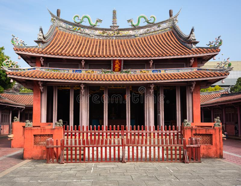 Widok Tajwańska Konfucjuszowa świątynia w Tainan obrazy stock