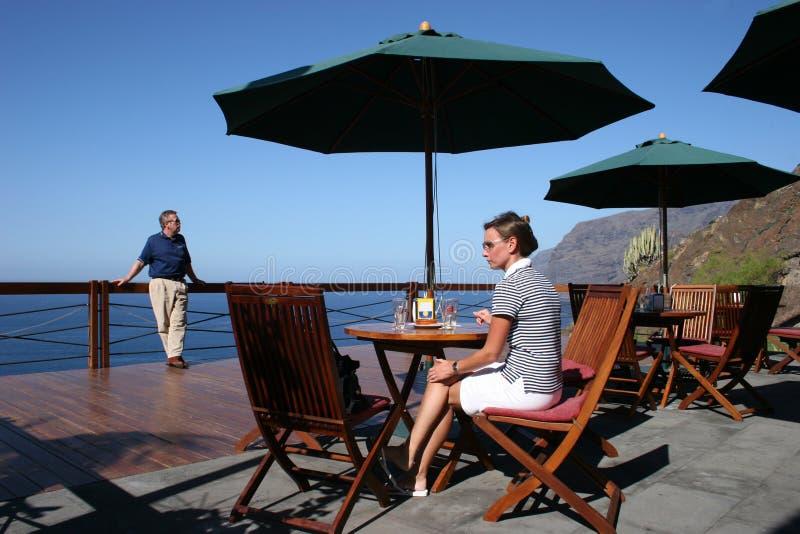 widok tarasowy oceanów tabel zdjęcia stock