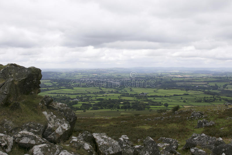 Widok Tavistock od Dartmoor fotografia stock