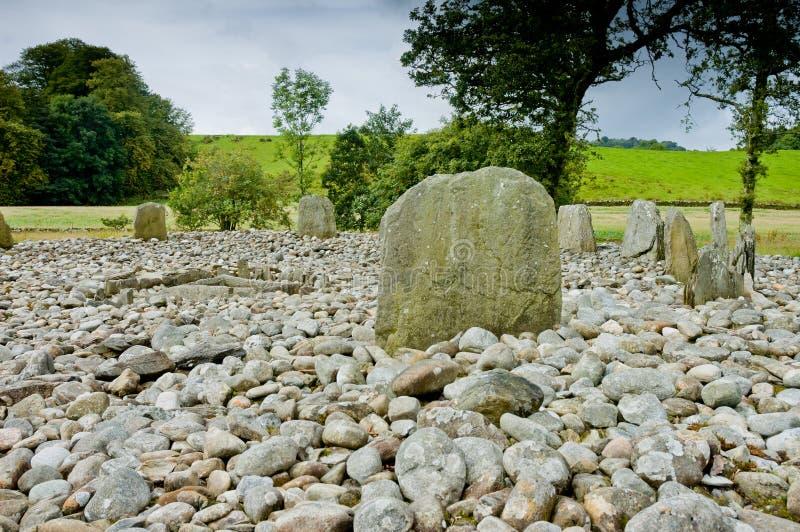 Widok Templewood kamienia okrąg, Kilmartin roztoka, Szkocja obraz royalty free