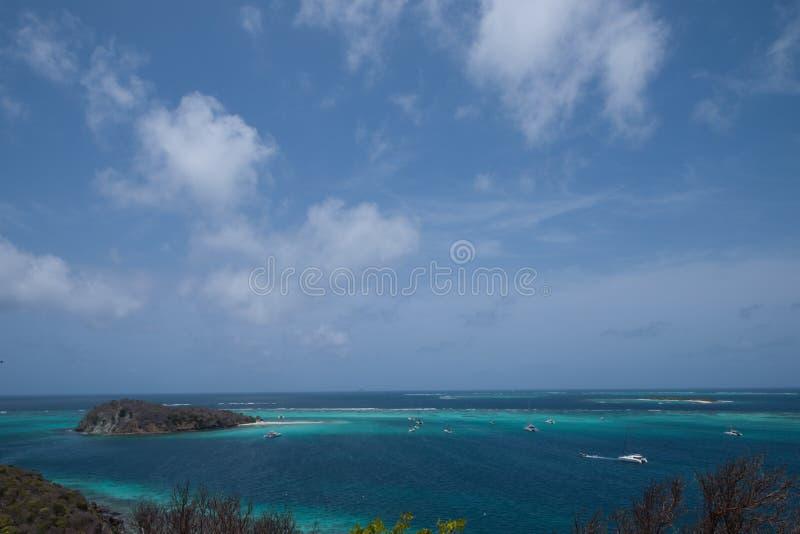 Widok Tobago Cays, grenadyny zdjęcie stock