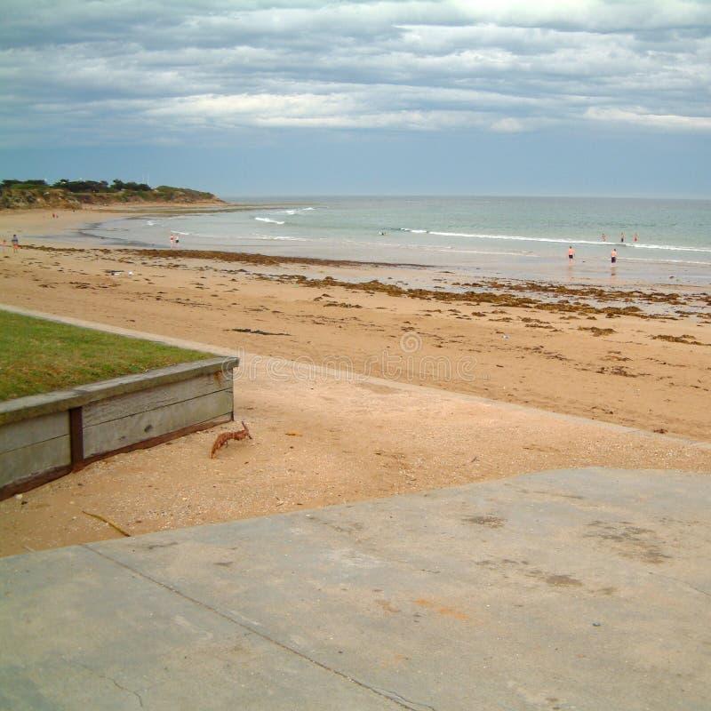 Widok Torquay plaża obrazy stock