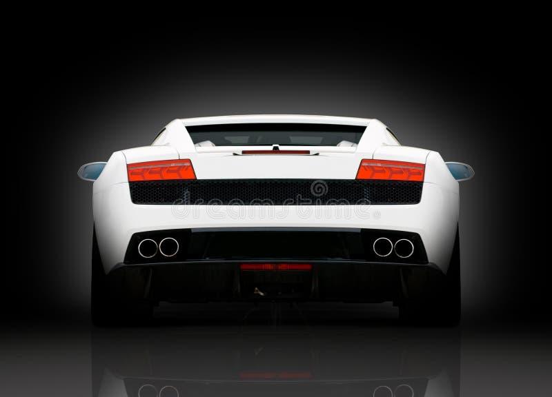 widok tylni supercar biel obraz royalty free