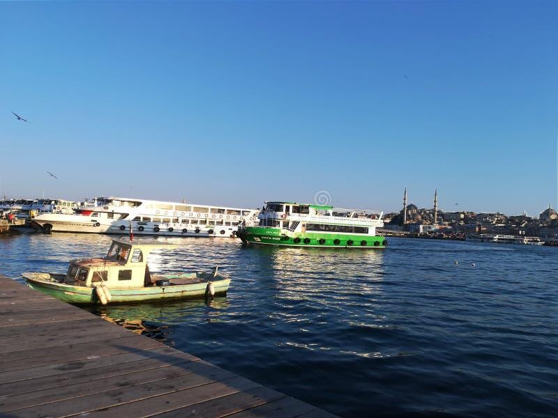 Widok ujście w Istanbuł zdjęcia royalty free