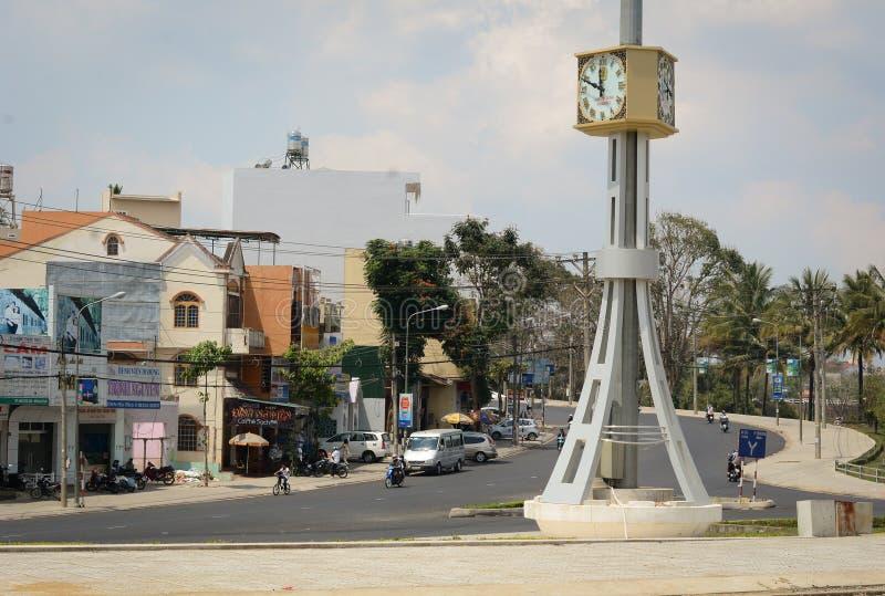 Widok ulica w Bao Loc, Wietnam obraz stock
