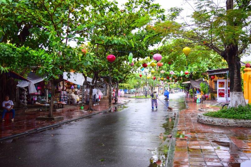 Widok ulica w Hoi stary miasteczko, Wietnam fotografia stock
