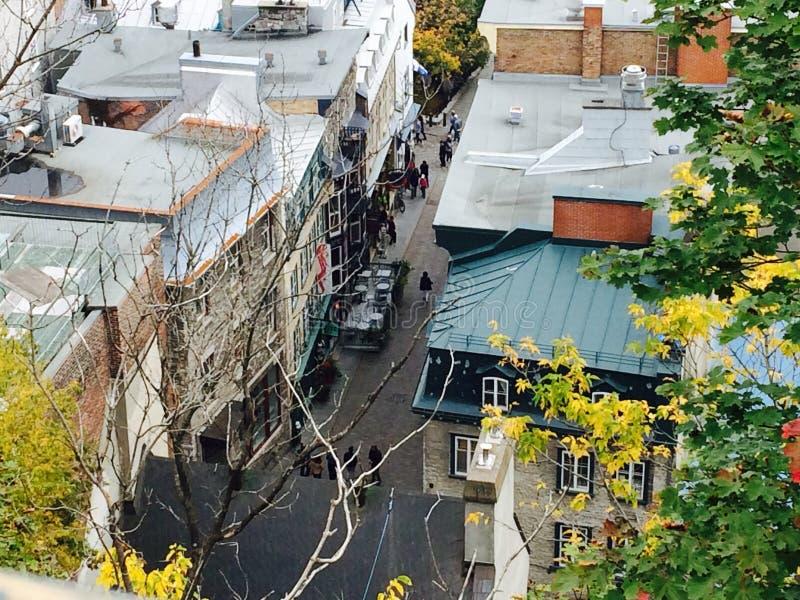 Widok ulica w Quebec zdjęcia stock