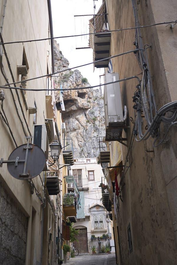 Widok ulicy Cefalu fotografia stock